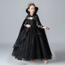 Halloween Children's Bad Queen Costume Snow White Skirt Vampire Girl Witch Drama Malicious Queen Performance
