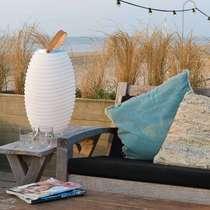 Danish KOODUU indoor and outdoor portable floor lamp with Bluetooth audio and ice bucket storage Synergy series