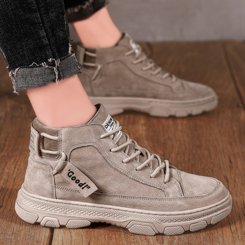 Men's shoes spring Martin boots men's 2019 new all-in-one high top British Korean version trend middle top casual work clothes fashion shoes
