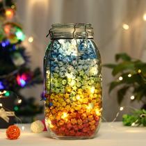 Creative Lucky Star Glass Bottle Transparent Cork Five Corner Star Wish Bottle Can Finished Diy Paper Crane Wish 520