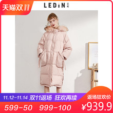Lok Cho's Woolen collar, down coat, thick 2018, winter new style of women's wear.