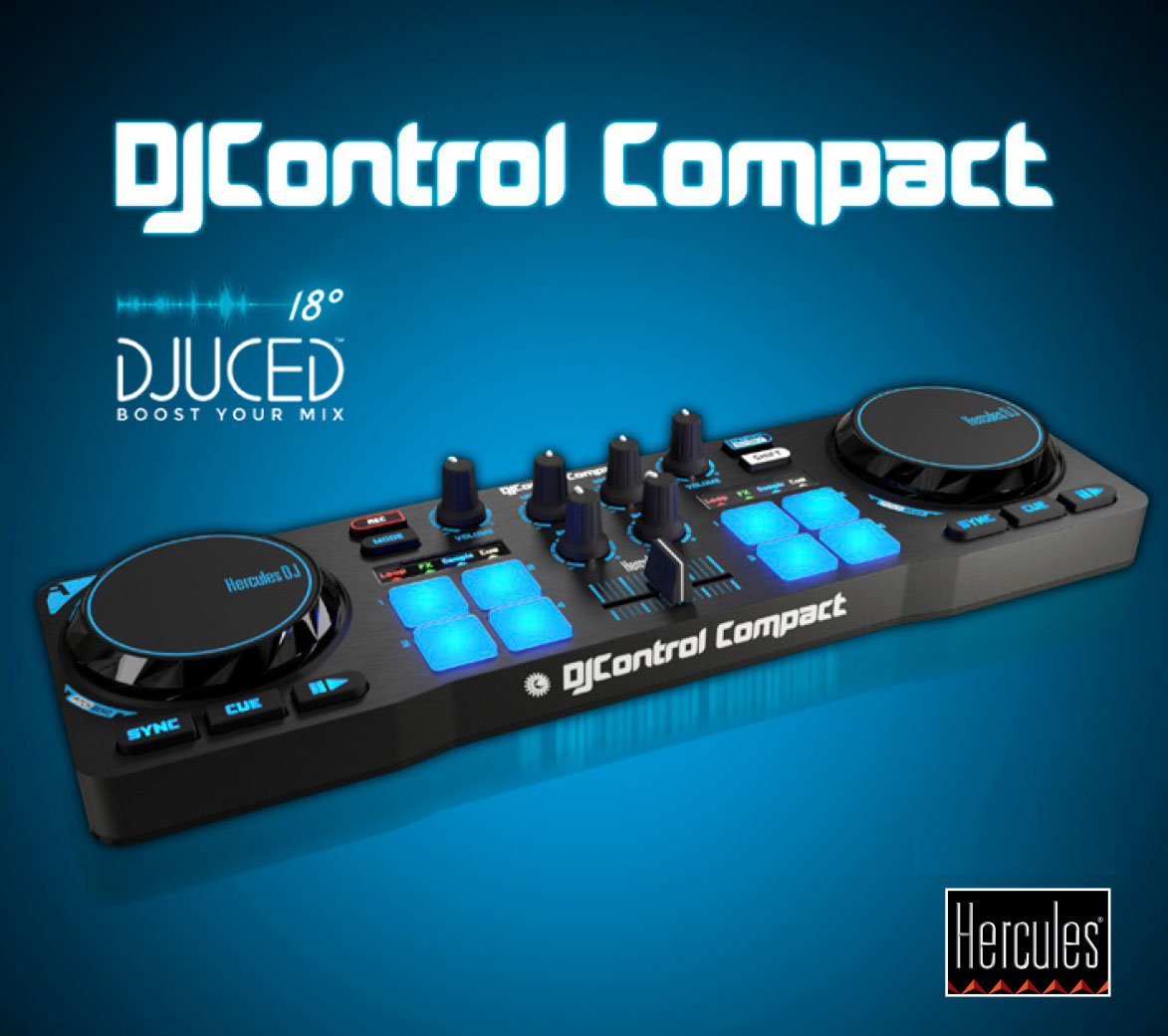 French Hercules/Hi Cola Control Compact DJ Controller Live Disc Player Delivery Software