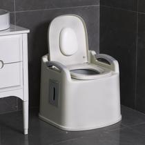 Des toilettes pour personnes âgées de toilettes amovibles chez les femmes enceintes adultes simple personnes âgées portable squat tabouret chaise de toilette