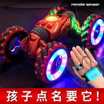 Childrens toys remote control car 4WD car Net Red gesture sensor twist car Oversized remote control car boy 6 years old