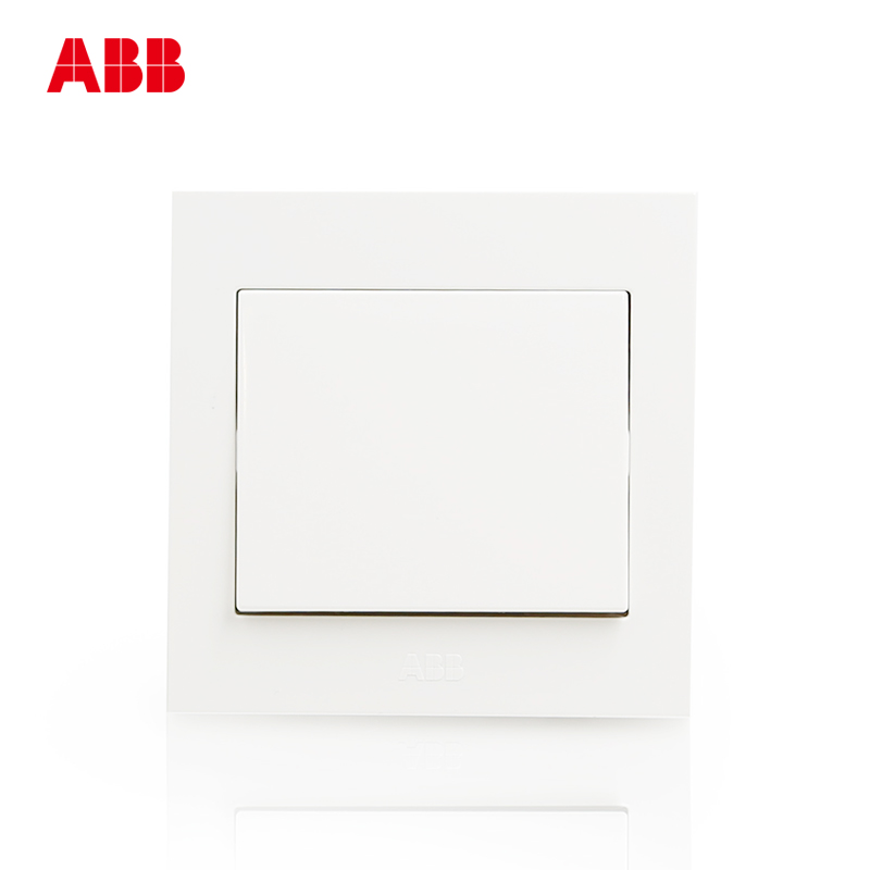 ABB Switch Panel 86 Wall Switch Socket Yongzhi Elegant White Panel One Open Double Control Switch AH105