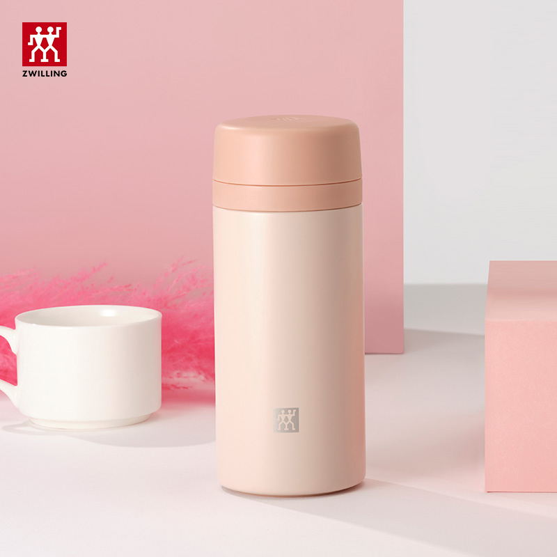 German double filter cup white pink