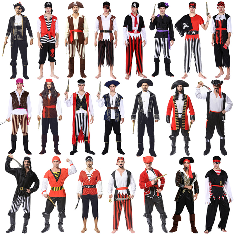 Cosplay Clothes,Halloween Clothes,Halloween Costume Ball cosplay Caribbean Male Pirate Costume Pirate Costume Adult Jack Captain Costume