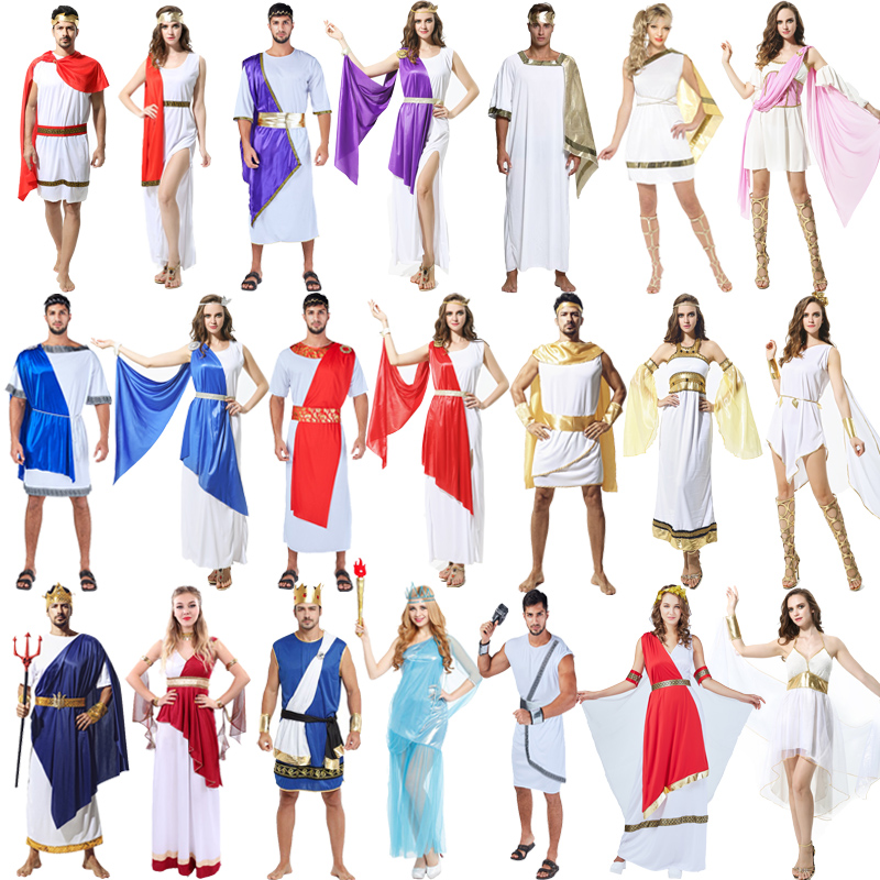 Halloween Cosplay cosplay costume ball Egyptian man Pharaoh Costume Adult ancient Greek woman queen gown