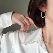 Advanced sense mosquito coil ear clip big ring earrings without ear hole earring face small earring temperament female summer model