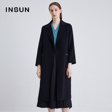 Yinger Enshang new fashion autumn 2020 pure cotton wool coat loose quality woolen coat women's middle length