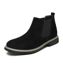 Men Chelsea boots leather boot shoes casual boots Chelsea boots man