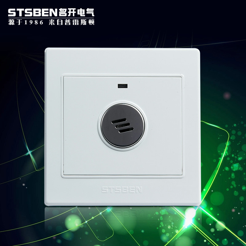 Type 86 voice-activated switch corridor induction delay high-power three-line fire strong with relay sound and light control switch