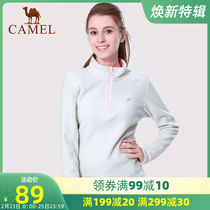 Camel sports fleece female cotton coat jacket half cardigan sweater sports fleece antistatic warm jacket