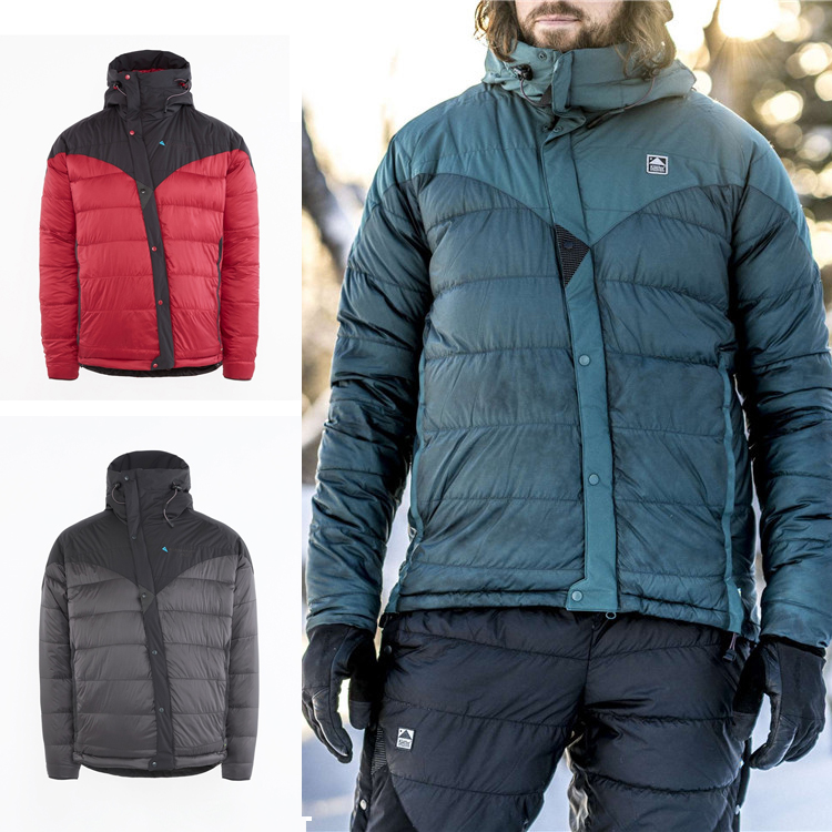 Klattermusen Atle 2.0 climbing father and son male models ultralight warm down jacket