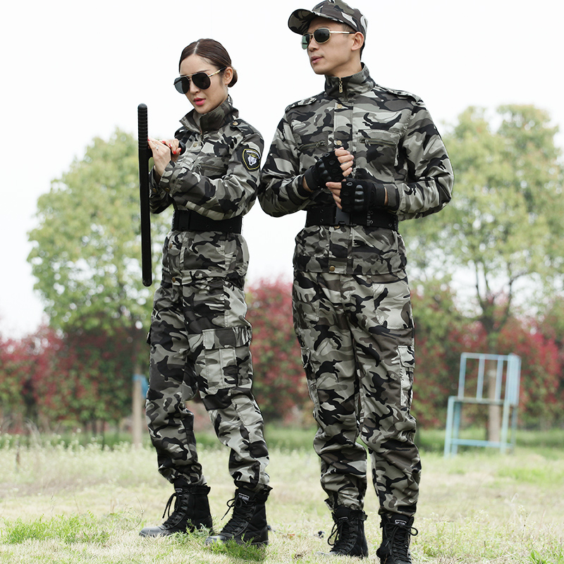 Outdoor special forces camouflage uniforms suits men and women wear training uniforms students military training uniforms overalls field clothing