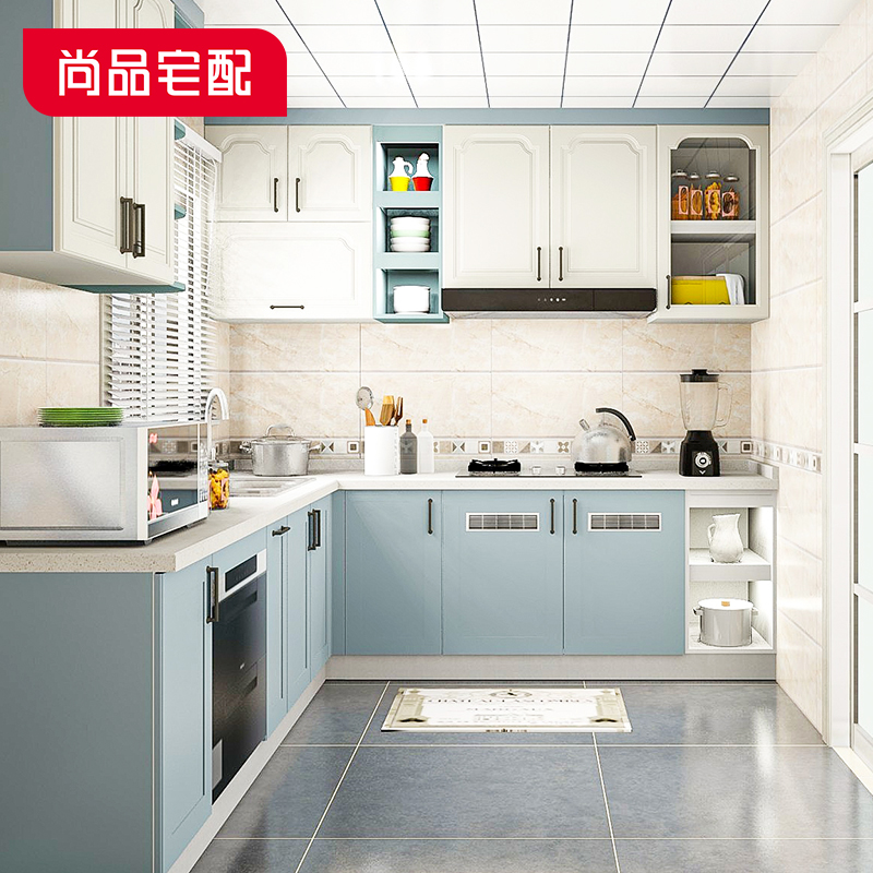 Still a house to match? Car customization of the whole kitchen cabinet as a whole cabinet quartz quartz surface economy L-type overall cabinet customization
