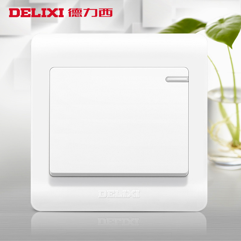 Delixi switch socket socket panel switch panel wall switch opened more control / halfway fluorescence switch