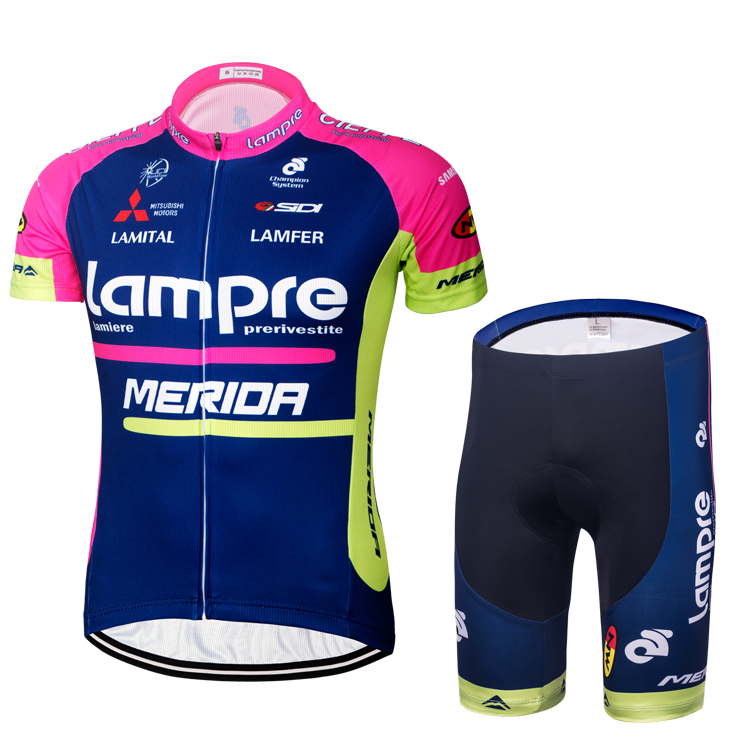 Special package 16 blue-wave pink cycling suit short sleeve suit summer bicycle motorcade version cycling equipment