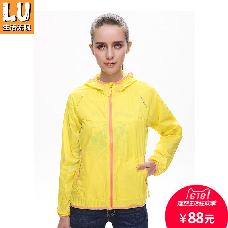 LU Living Infinite Spring and Summer Outdoor Sunscreen Women's Thin Air-permeable and Water-splashing Sports Windswear Skin Clothing
