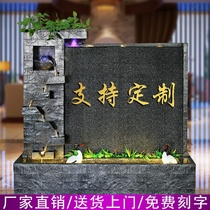 Water curtain wall water screen fountain ornaments lucky feng shui round garden water features living room decoration office water curtain