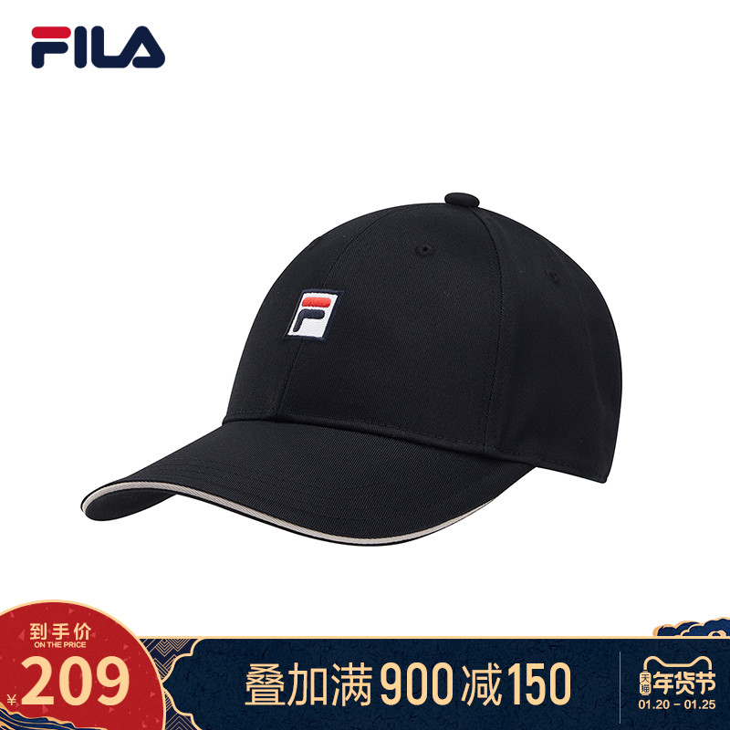 FILAFila official couple baseball cap 2021 spring new embroidered LOGO baseball cap fashion sports hat