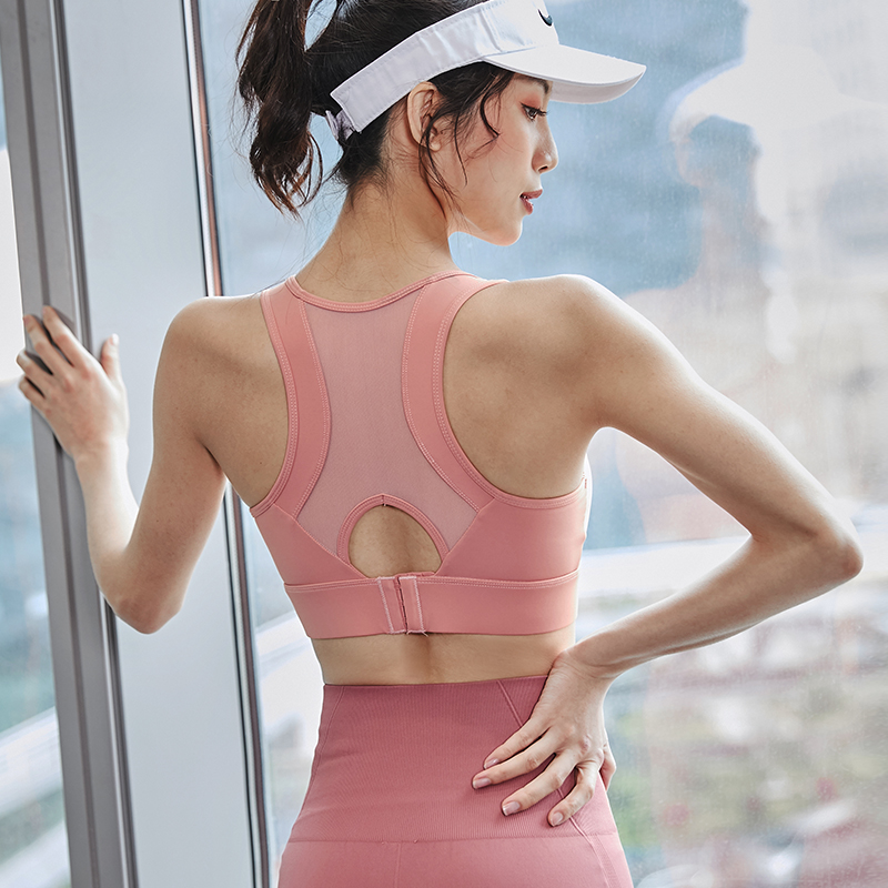 Sports underwear women's shock-absorbing and anti-sagging running beauty back gather stereotypes fitness yoga wear vest bra top