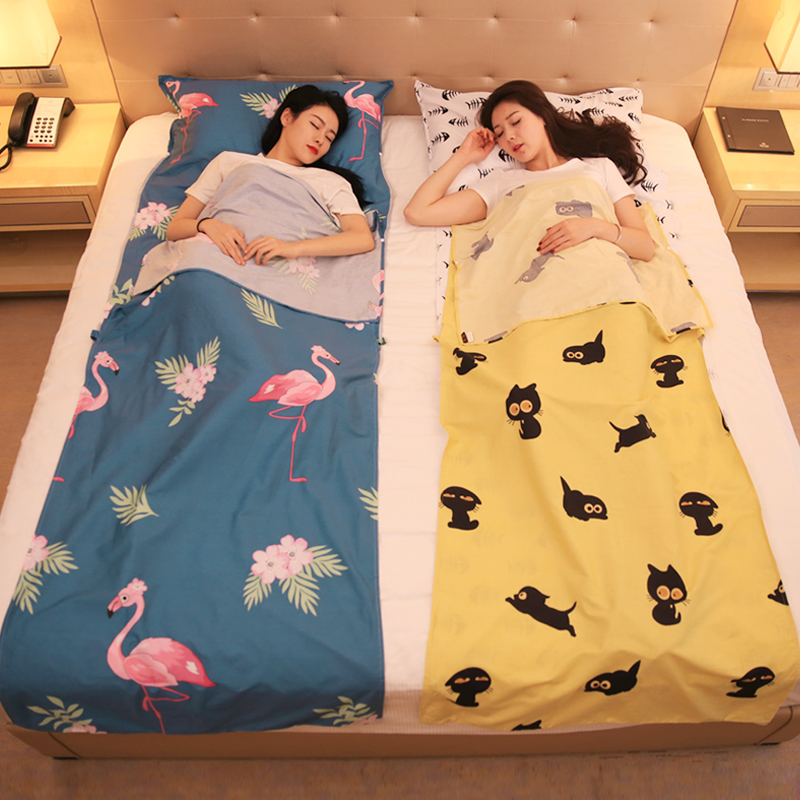Pure cotton travel dirty sleeping bag portable double business trip is covered hotel stay hotel anti-dirty bed linen