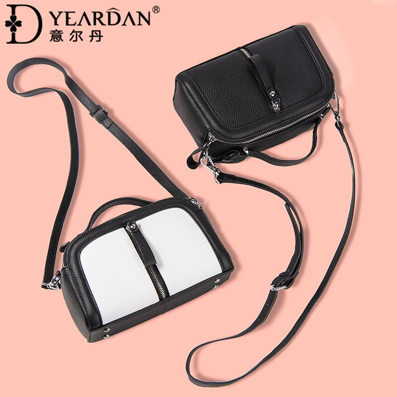 Ildan 2018 spring and summer new leather handbags small fashion versatile shoulder bag diagonal contrast color bags
