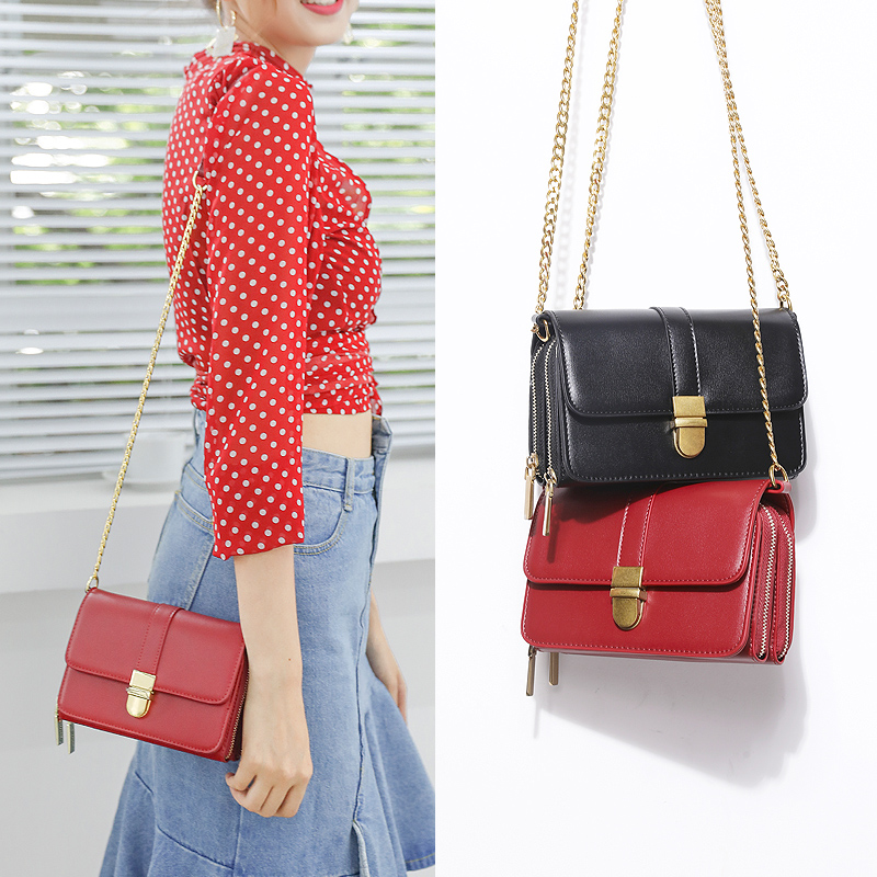 Red Popular Bag 2019 New Chain Bag ins