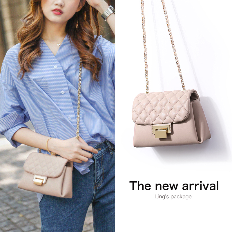 Chain bag 2018 new ins super fire handbag Korean version of the small fragrance windy texture autumn and winter shoulder Messenger bag