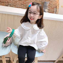 Childrens baby girl blouse spring girl shirt spring and autumn Korean version of the Western fashion long-sleeved white 2020 new tide