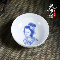 Tea ceremony life hand-painted ceramic sample tea cup bowl cup blue and white porcelain small tea bowl host single cup Kung Fu tea set tea cup