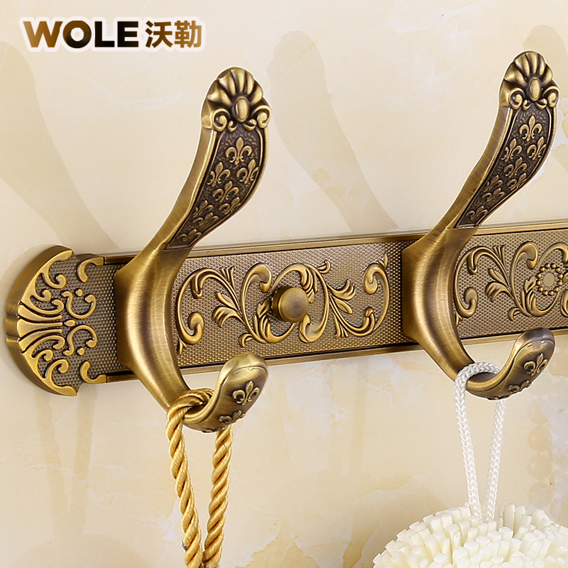 Into the door antique clothes hook European-style clothes hook hook crochet cap hook wall hanging ancient hanger wall wall