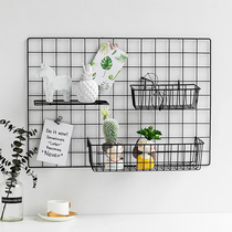 Mesh Photo Wall Decoration Ins Tieyi Room Wall Supermarket Store Home Placement Shelf Hanging Basket Tray
