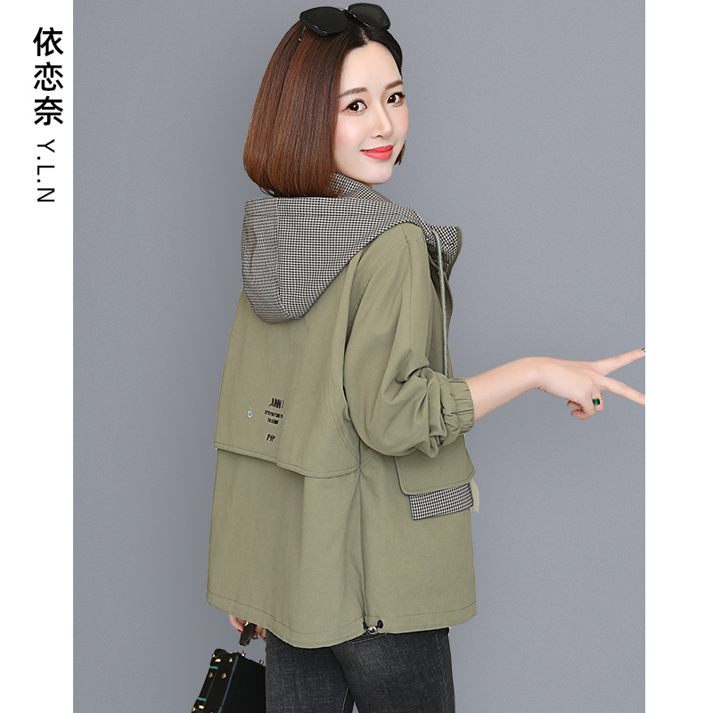 Womens short coat autumn winter hundred with 2020 new mother jacket top womens thick clip cotton windshield jacket