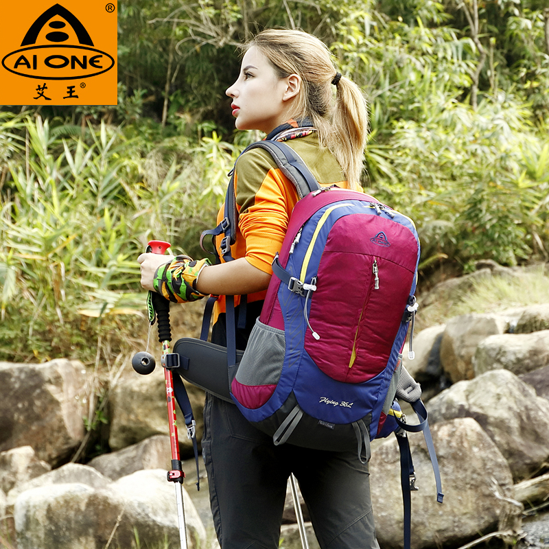 Aiwang mountaineering bag outdoor backpack travel backpack men and women sports riding multi-function hiking backpack 35L45L