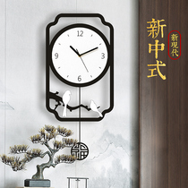 Chinese Wind Clock and Watch Wall New Chinese Living Room Household Fashion Modern Simple Silence Creative Watch and Watch Wall