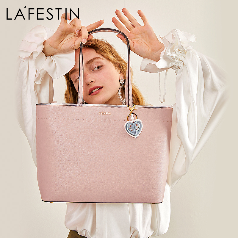 Lafistin 2018 new European and American fashion Tote bag shoulder bag large capacity portable heart-shaped hanging large bag