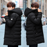 The winter men with thickened in the long cashmere coat jacket 2017 new trend of Korean winter cotton padded jacket