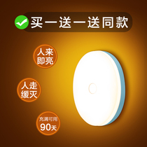 Умный свет ночи индукции человеческого тела Сид проход домочадца перезаряжаемые автоматический звук контролируя свет контролируя настенный светильник коридора