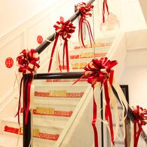 结婚楼梯扶手装饰婚礼婚庆用品大全喜字拉花彩带婚房布置气球套装
