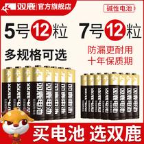Shuanglu nouvelle batterie alcaline boutique n° 5 12 tablettes n° 7 12 jouets pour enfants batterie sèche en gros télécommande n° 5 n° 7 1 5v souris télécommande voiture suspendue réveil petite batterie