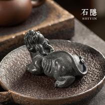 Камень скрытые скульптуры ручной Ujin камень изменения цвета чай любимый маятник может собрать деньги чай 貔貅 чай реквизит подарки