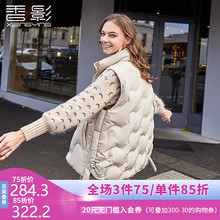 Shadow Down vest for women in 2019 new Korean version sleeveless horse jacket with shoulder and sleeveless collar wearing down jacket in autumn and winter