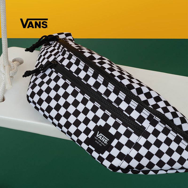 Vans Vances official black-and-white checkerboard classic purse