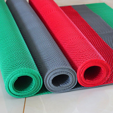 PVC hollow pads, bathroom carpet, kitchen waterproof thickening antiskid mat toilet lobby plastic floor mat bathroom mat