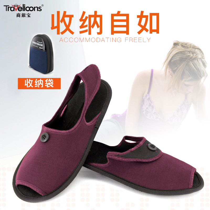 Travel Foldable Slippers Women Portable Ultra Light Travel Simple Ultra Thin Walkwear Sandals Hotel Travel Slippers Men