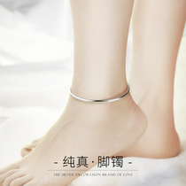 Sterling silver anklet adult 999 foot silver anklet Female adult palace bell red rope Solid Nie Xiaoqian with bell foot ring