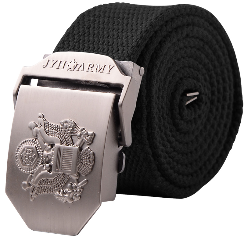 Canvas Tactical Belt for Men and Women in Military Field Youth Auto-buckle Belt for Male Students Recreational Outdoor Canvas Belt
