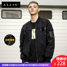 ALLIN autumn winter men's jacket thickening 2018 new style fluffy baseball suit, men's pilot jacket baseball.